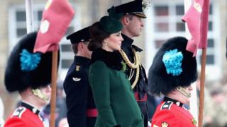 William and Kate watch the parade