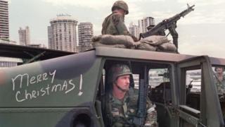 Soldados americanos no Panamá