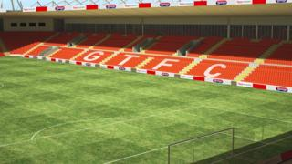 Impression of the new stadium