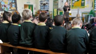 Pupils at a primary school