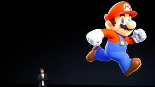 Shigeru Miyamoto, creative fellow at Nintendo and creator of Super Mario, speaks on stage during an Apple launch event on September 7, 2016 in San Francisco