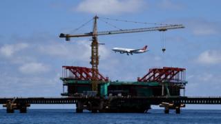 Cầu hữu nghị Trung Quốc - Maldives đang xây dở dang ở thủ đô Male của Cộng hòa Maldives