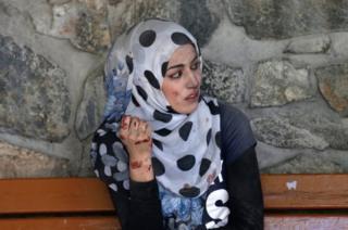 Раненая женщина в Кабуле