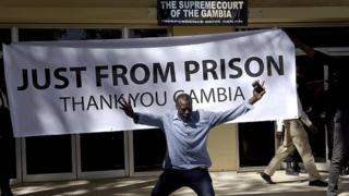 La devanture de la cour suprême de Gambie (illustration)
