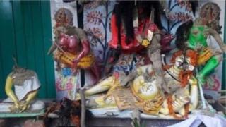 নাসিরনগরে হামলায় ক্ষতিগ্রস্ত হিন্দুদের মন্দির