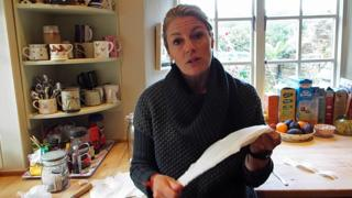 Amy Peake in her kitchen