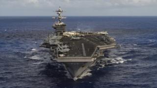 Kapal induk Carl Vinson sudah bergerak menuju Semenanjung Korea.
