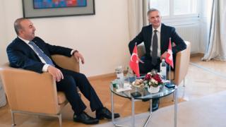 Dışişleri Bakanı Mevlüt Çavuşoğlu ve İsviçreli Didier Burkhalter