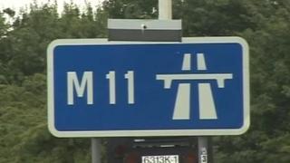 M11 roadsign