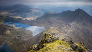 Snowdon, looking down to Llyn Llydaw