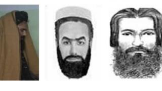 تصویری از سراج الدین حقانی که در وب سایت اف بی آی و درخواست دادن اطلاعات در باره وی منتشر شده است