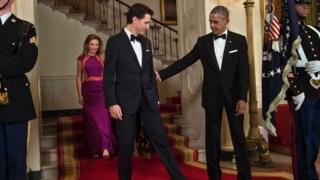 Trudeau and Obama at state dinner