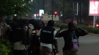 Полиция на месте нападения в Уагадугу