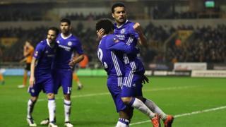 Chelsea a battu Wolverhampton Wolves , une équipe de deuxième division pour se qualifier.