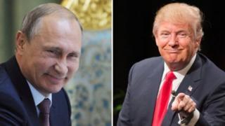 Rais Putin wa Urusi na rais mteule wa Marekani Donald Trump