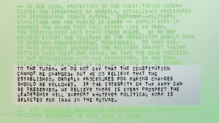 """""""We do not say the constitution can be changed"""""""