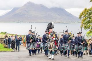Isle of Skye Pipe Band on Raasay