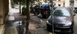 Мусор на улицах Рима