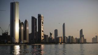 Abu Dhabi skyline (5 February 2015)
