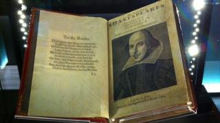 Copy of Shakespeare's First Folio owned by the University of Leeds