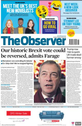 Observer front page