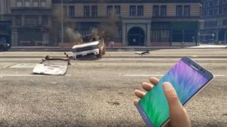 Samsung Galaxy Note 7 в Grand Theft Auto