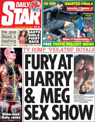 Daily Star front page - 19/03/18