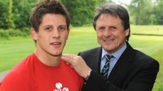 Lloyd a Brynmor Williams yn 2009 pan pedd Lloyd yn sgwad dan 20 Cymru