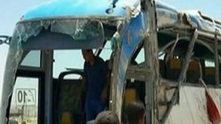 Saldırı sonrası otobüs