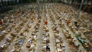 Amazon's warehouse in Milton Keynes
