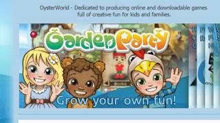 Screenshot of the Oysterworld website