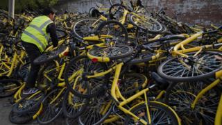 """دراجات شركة """"أوفو"""""""