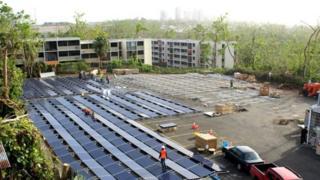 Solar system for pickin hospital
