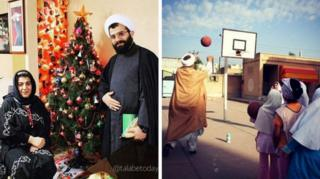 Photos of clergymen in public
