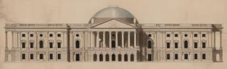 Design for US Capitol, Washington DC - by William Thornton, 1793-1800
