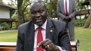 Rieck Machar yahoze yungirije umukuru w'igihugu muri Sudani yepfo.