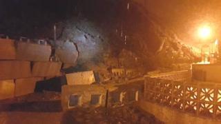 Wall damage in Gardenstown