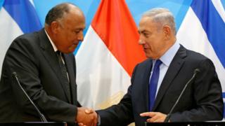 Самех Шукри и Биньямин Нетаньяху