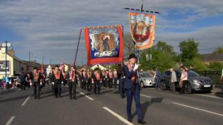 The Orange Order parade passed through Portadown on Saturday evening