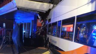 Scene of the bus crash