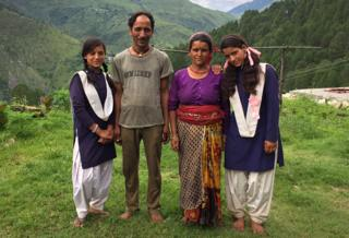 Radhika and Yashoda with their parents