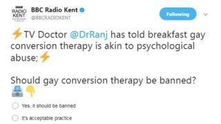 Radio Kent Twitter poll