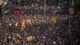 Демонстрация в Каталонии