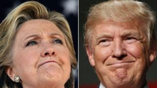 Hillary Clinton na Donald Trump
