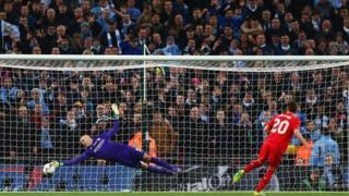 Caballero saves Lallana's penalty