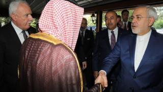 وزیر امور خارجه ایران و عربستان
