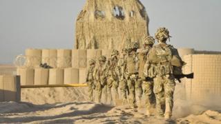 British soldiers in Helmand, Afghanistan, in October 2013
