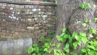 Blandford Cemetery wall