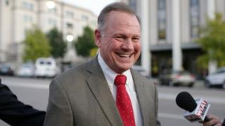 Republican candidate Roy Moore arrives at the RSA Activity Center in Montgomery, Alabama, U.S. September 26, 2017