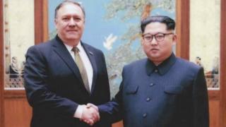 Mike Pompeo meets North Korean leader Kim Jong-un in Pyongyang, April 26, 2018